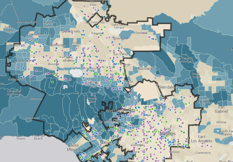 LA Releases Draft Regulations Map Of Cannabis Businesses - Los angeles zoning map